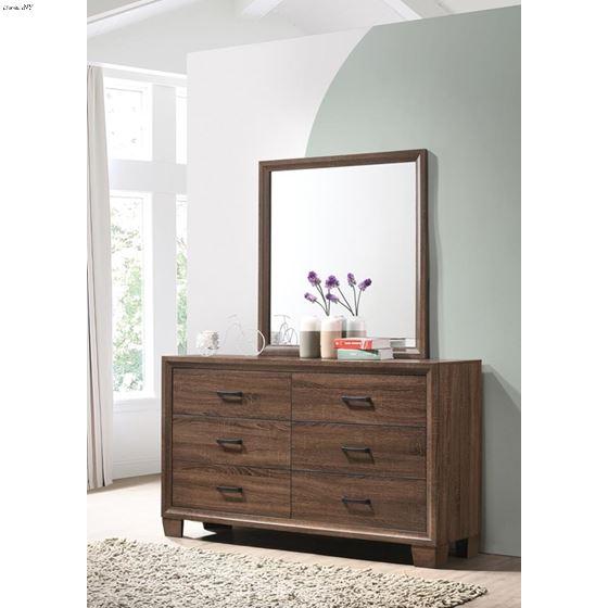 Brandon Warm Brown Rectangle Framed Mirror 20532-4