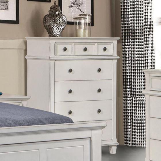 Carolina Antique White 5 Drawer Chest 222875-2
