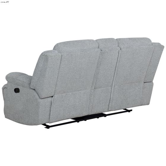 Waterbury Grey Reclining Loveseat with Console 6-4
