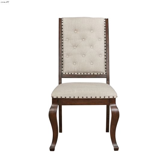 Brockway Cove Tufted Upholstered Side Chair Cream And Antique Java 110312 front
