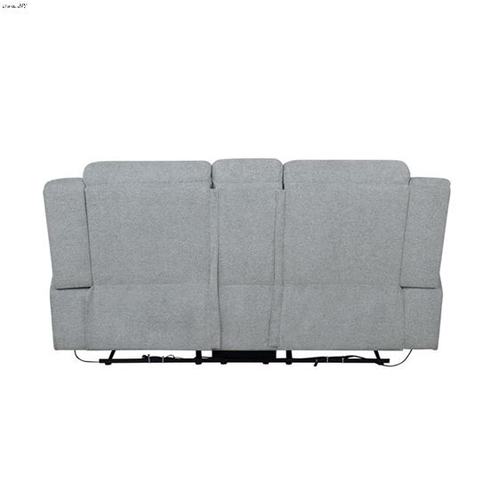 Waterbury Grey Power Reclining Loveseat with Con-4