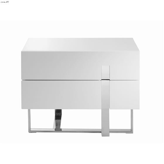 Collins White Lacquer Nightstand/End Table - 2