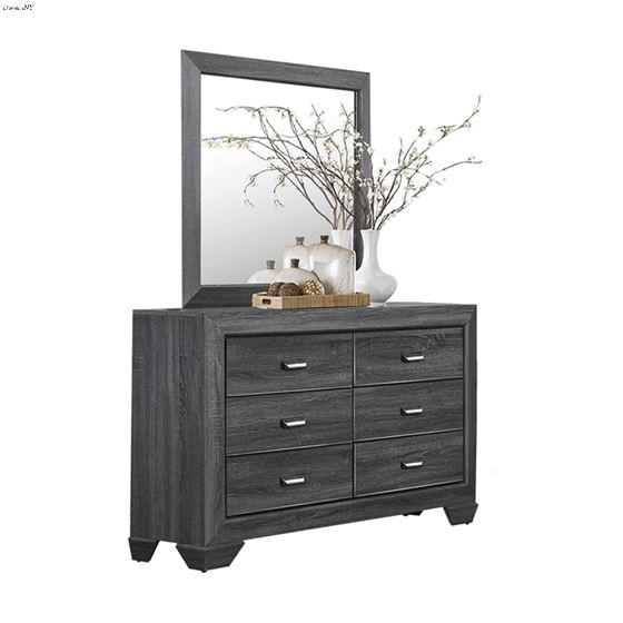 Beechnut Grey Finish 6 Drawer Dresser 1904GY-5 w mirror