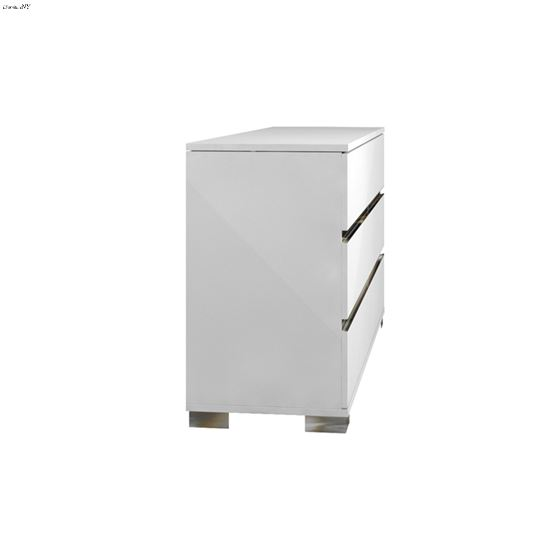 Spark High Gloss White Lacquer Dresser - 4
