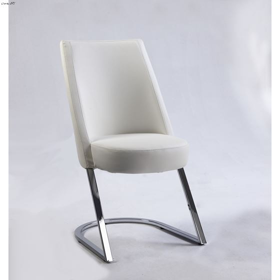Tami White Upholstered Dining Side Chair