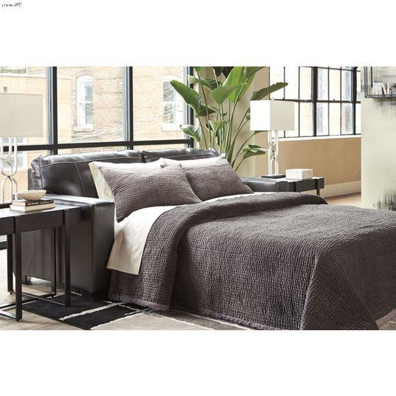 Morelos Grey Leather Queen Sofa Sleeper 3450339-2