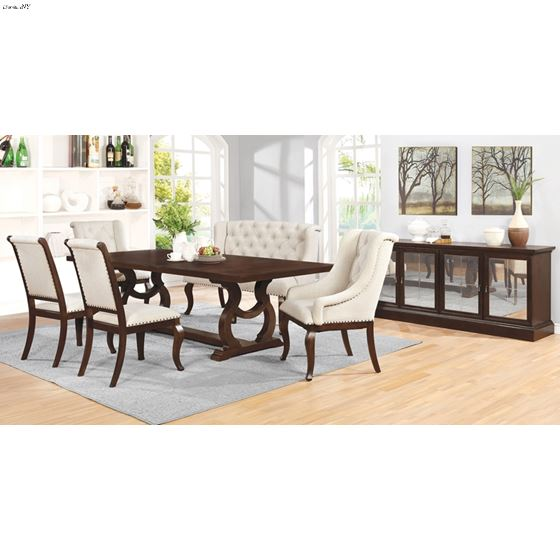 Brockway Cove Antique Java Trestle Dining Table 110311 by Coaster in Set