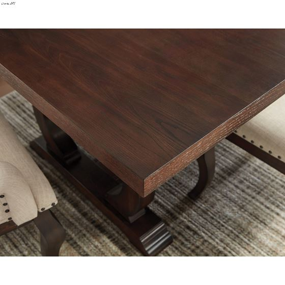 Brockway Cove Antique Java Trestle Dining Table 110311 by Coaster Detail