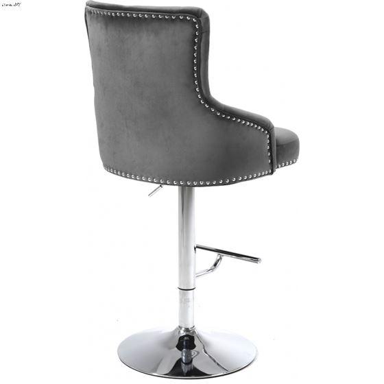 Incredible Claude Grey Velvet Upholstered Tufted Bar Counter Stoolgrey Velvet Upholstery Ibusinesslaw Wood Chair Design Ideas Ibusinesslaworg