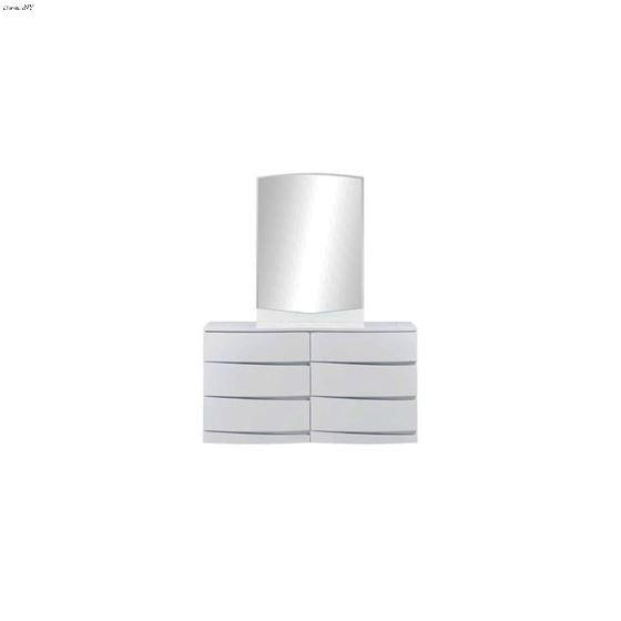 Aurora White Modern 6 Drawer Dresser by Global F-2