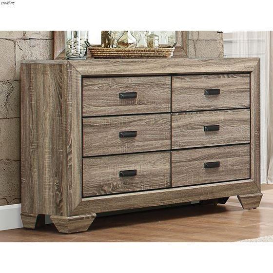Beechnut Natural Finish 6 Drawer Dresser 1904-5-2