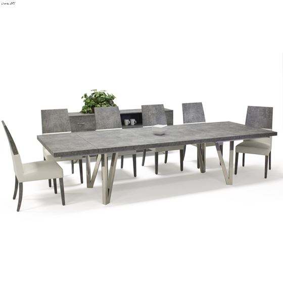 Prato Matte Concrete Dining Table by Sharelle-4