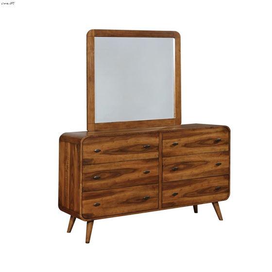 Robyn Dark Walnut Rectangular Mirror 205134-2